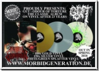 GUT - Odour Of Torture LP (white/green Splatter)